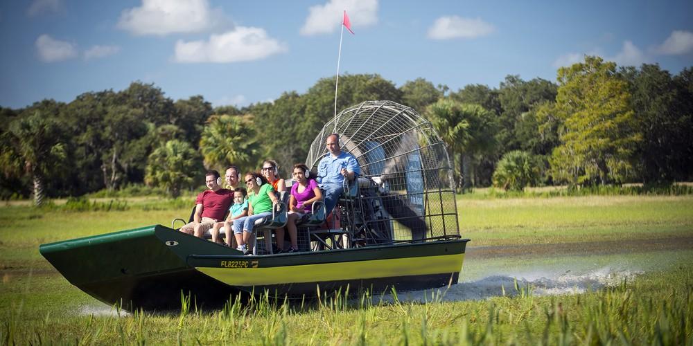 Airboat tour bij Kissimmee Florida.