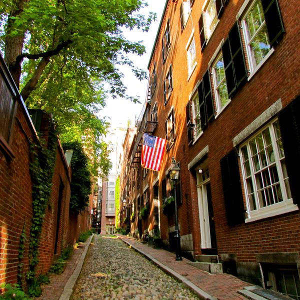 Straatbeeld in Beacon Hill, Boston