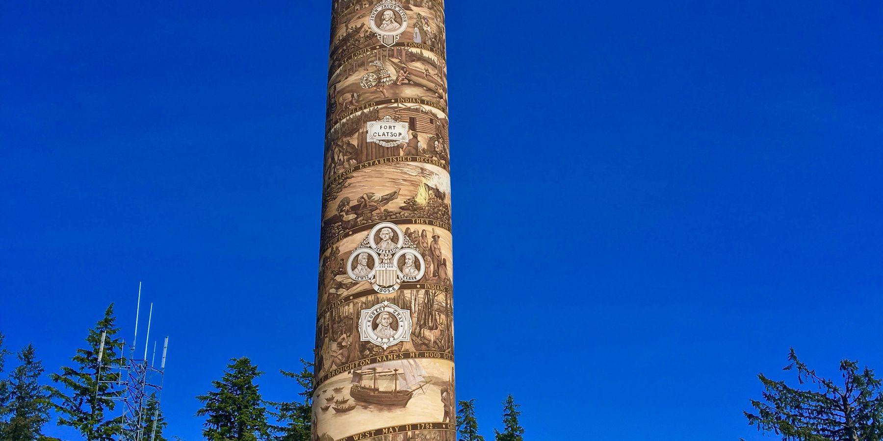 Astoria Column - Astoria - Oregon - Doets Reizen
