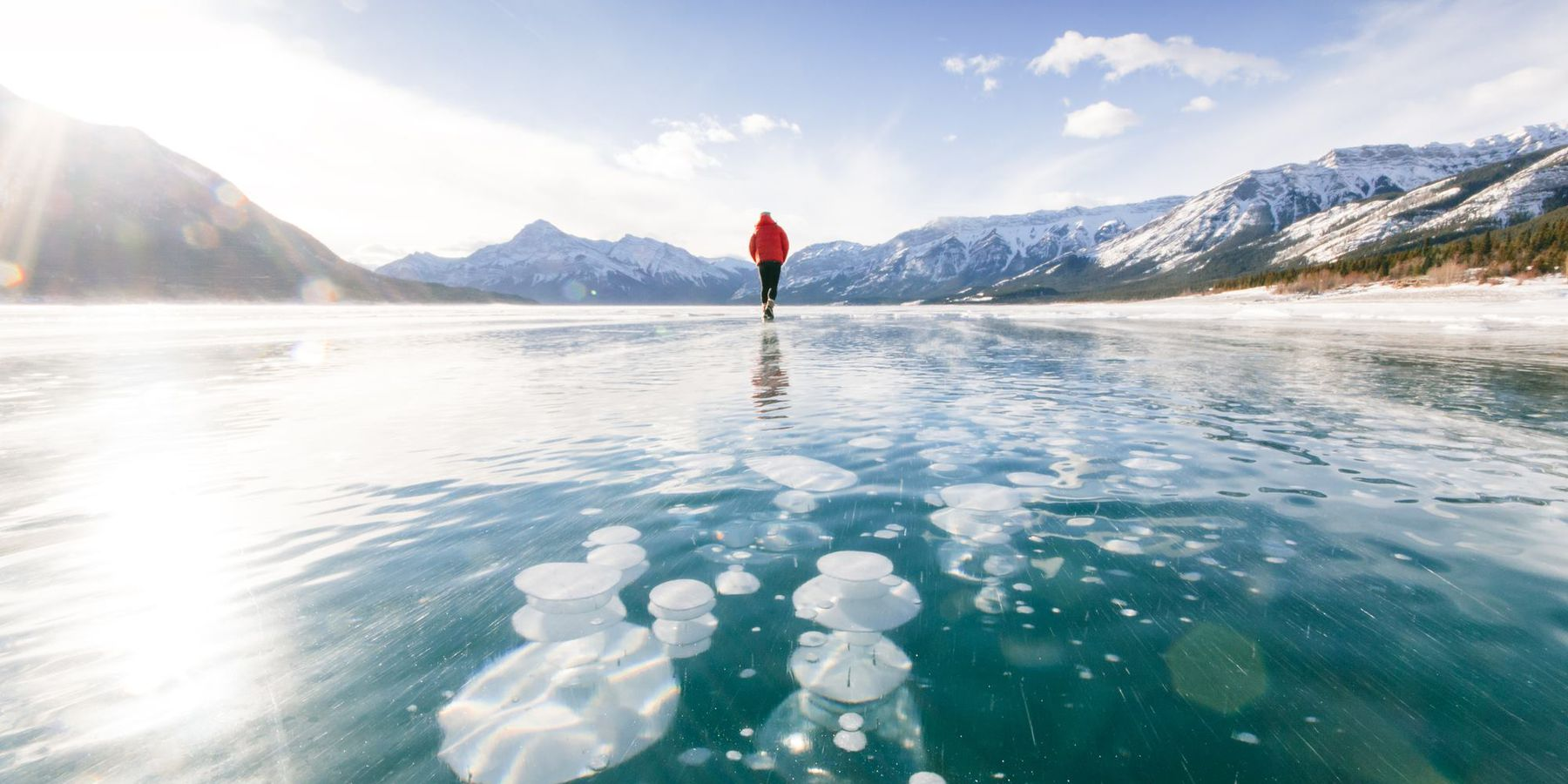 Wintersport - Abraham Lake Bubbles Tour - Banff - Lake Louise - Alberta - Canada - Doets Reizen