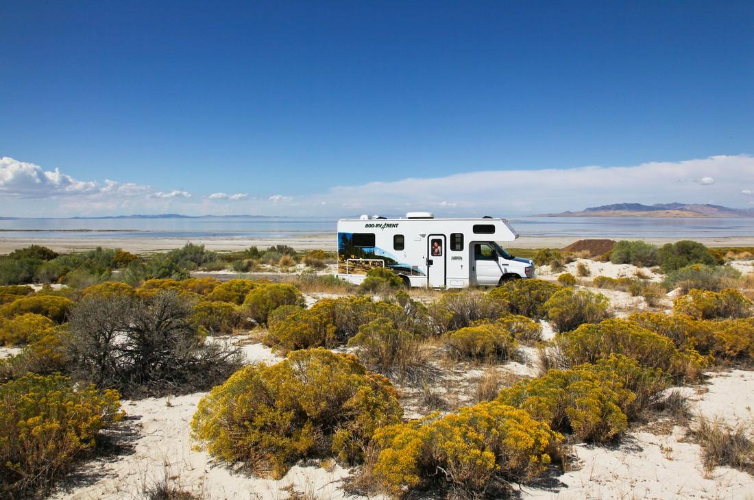 Antelope Island - Cruise America - Camper huren Amerika -Camperreis - Doets Reizen