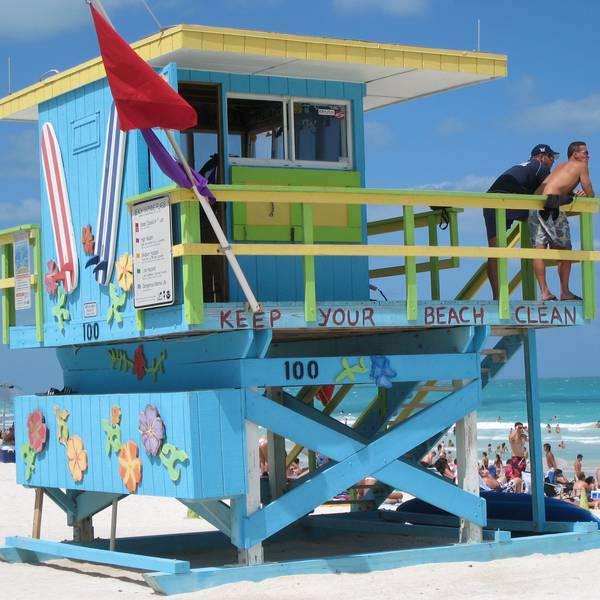 Strandwachthuisje in Miami Beach Florida