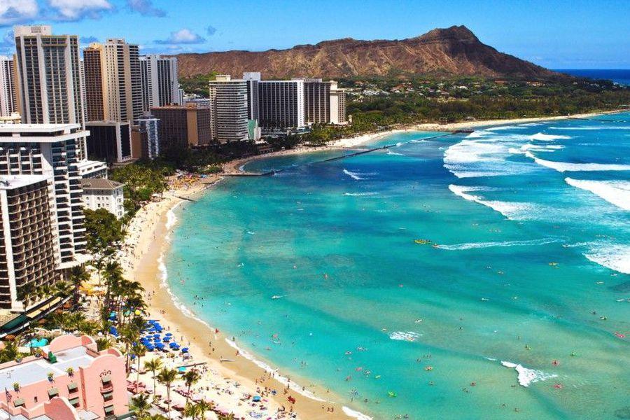 Waikiki Beach - Oahu - Hawaii - Doets Reizen