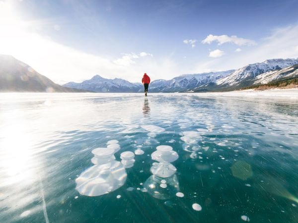 Wintersport - Abraham Lake Bubbles Tour - Banff - Lake Louise - Alberta - Canada - Doets Reizen