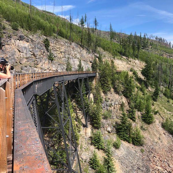 Myra Canyon Trestles & Tunnels guided bike tour - Kelowna - Okanagan Valley - British Columbia - Canada - Doets Reizen