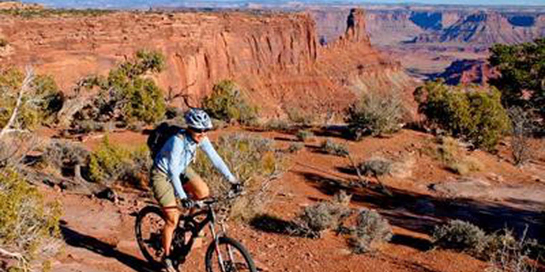 Mountainbiken in Moab, Utah