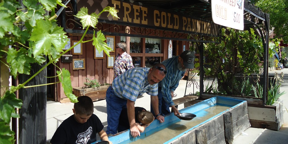 Gold panning in Sonora, California