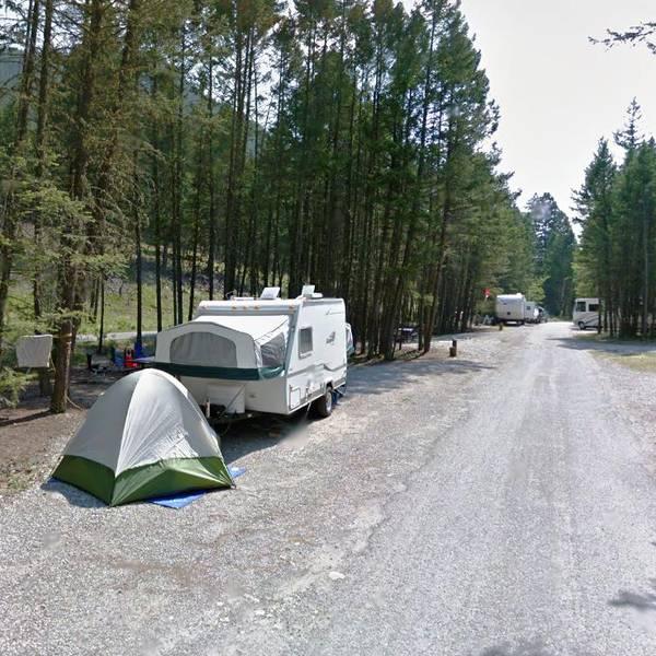 Redstreak Campground, voorbeeld van camperplaats